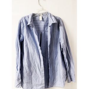 H&M blue and white striped button down